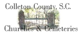Colleton County SC Churches & Cemeteries