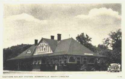 Summerville South Carolina Railroad Depot Vintage Postcard
