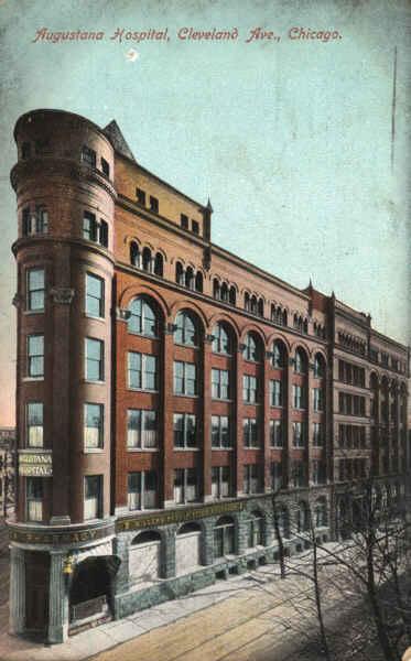 Augustana Hospital Chicago Il Vintage Postcard