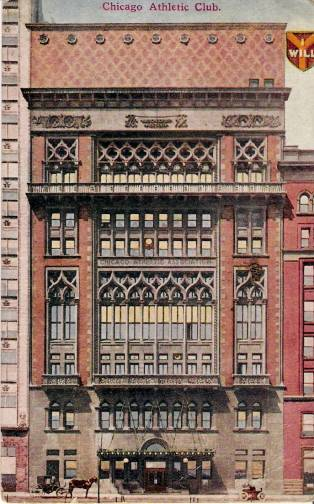 chicago athletic club chicago illinois vintage postcard